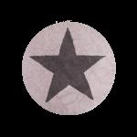 Tapis Rond Star Réversible 140