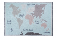 Tapis lavable Vintage Map 140x200