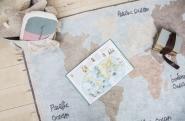 Tapis lavable Vintage Map 140x200