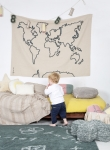 Wall hanging Map